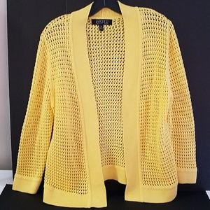yellow knit sweater